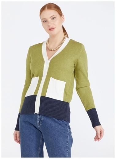 Sementa Sementa V Yaka Yeşil Ceket Yeşil